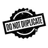 Do Not Duplicate rubber stamp Stock Photos