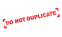 Do Not Duplicate rubber stamp Stock Photography