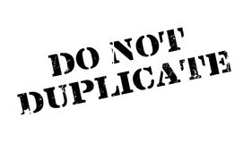 Do Not Duplicate rubber stamp Stock Images