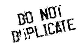 Do Not Duplicate rubber stamp Royalty Free Stock Photo