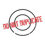 Do Not Duplicate rubber stamp Royalty Free Stock Image