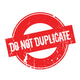 Do Not Duplicate rubber stamp Royalty Free Stock Photos