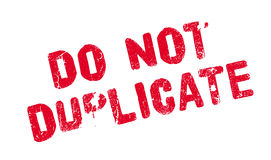 Do Not Duplicate rubber stamp Royalty Free Stock Images