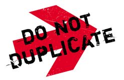 Do not duplicate stamp Stock Images