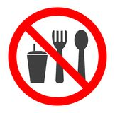 Do not eat and drink symbol. No eating or drinking, prohibition sign.Vector illustration. Do not eat and drink symbol. No eating or drinking, prohibition sign vector illustration