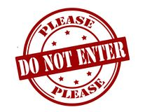 Free Do Not Enter Stock Images - 109242114