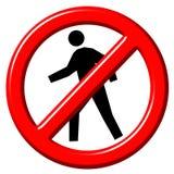 Do Not Enter 3d sign stock illustration