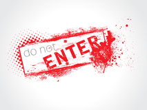 Do not Enter Royalty Free Stock Image