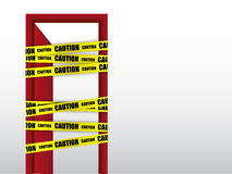 Do not enter caution with door sign Royalty Free Stock Photo
