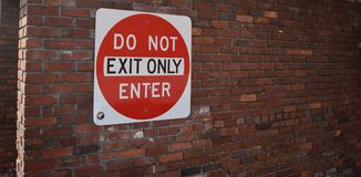 Do not enter, exit only Royalty Free Stock Photos