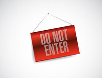 Do not enter hanging banner illustration Royalty Free Stock Photos