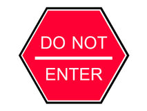 Do not enter red sign Royalty Free Stock Photo
