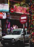 Do Not Enter Red Sign At Thamel Street. Editorial Royalty Free Stock Photos