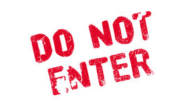 Do Not Enter rubber stamp Royalty Free Stock Image