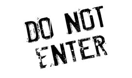 Do Not Enter rubber stamp Stock Photography