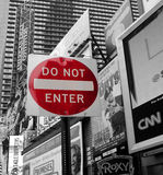 Do not enter sign Stock Images