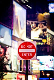 Do not enter sign Royalty Free Stock Images