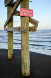 Do not enter sign on the beach Royalty Free Stock Images