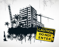 Do Not Enter Sign City. Vector Illustration Stock Photography