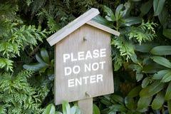 Do not enter sign japanese garden Stock Images