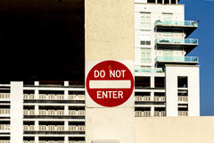 Do not enter sign at a private Stock Image