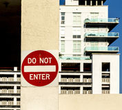 Do not enter sign at a private Royalty Free Stock Photography