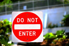 Do not enter sign Stock Image