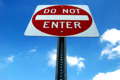 Do Not Enter Sign - Towering Royalty Free Stock Photography