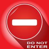 Do not enter sign. Stock Photos