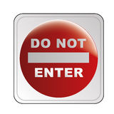 Do not enter signal Royalty Free Stock Photo