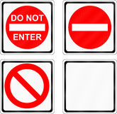 Do Not Enter Signs Royalty Free Stock Photos