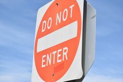 Do Not Enter Royalty Free Stock Images