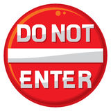 Do not enter warning sign Royalty Free Stock Photography