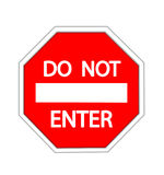 Do Not Enter warning sign Royalty Free Stock Image