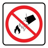 Do not extinguish with water. Sign on white background drawing by illustration stock illustration