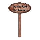 Do not feed the animals sign Royalty Free Stock Photo