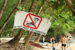 Do not feed the monkey Stock Photography