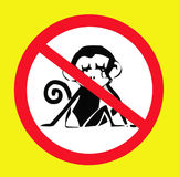 Do not feed wild animals sign. Royalty Free Stock Photos