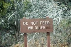 Do not feed wildlife sign Stock Photo