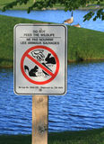 Do Not Feed The Wildlife Sign Royalty Free Stock Image