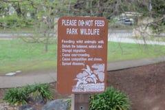 Do not feed wildlife sign Stock Photos
