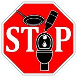 No cooking oil down the toilet royalty free illustration