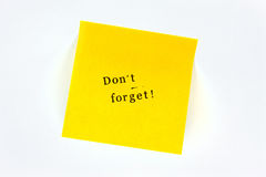 Do not forget Post it Royalty Free Stock Images