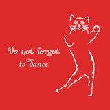 Do not forget to dance Royalty Free Stock Photos