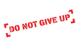 Do Not Give Up rubber stamp Royalty Free Stock Images
