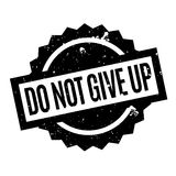 Do Not Give Up rubber stamp Royalty Free Stock Image