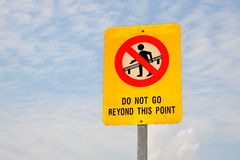 Do Not Go Beyond This Point Stock Image