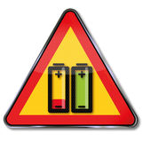 Do not incinerate battery Royalty Free Stock Images