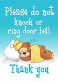 Do not knock sleeping bear 1 Stock Images