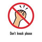 Do not knock vector sign.  stock illustration
